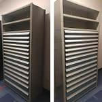 Armoire grise banque de tiroirs